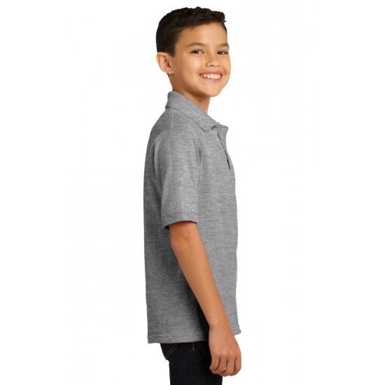 Youth Jersey Knit Uniform Polo Shirt