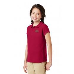 Girls Peter Pan Collared Uniform Polo Shirt